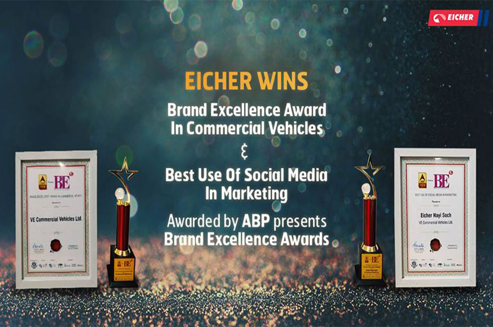 Eicher bags Brand Excellence Awards by ABP News