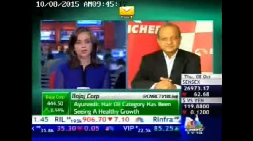 Mr. Vinod Aggarwal, CEO, VE Commercial Vehicles on CNBC TV18 - Oct 15