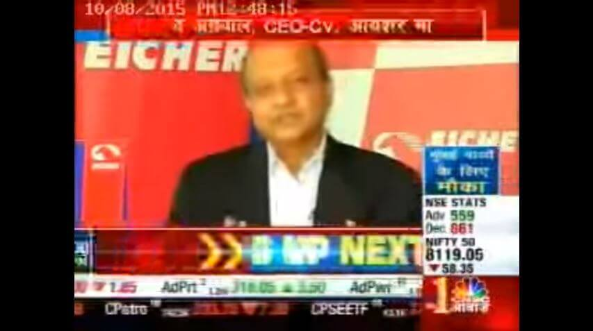Mr. Vinod Aggarwal,CEO VE Commercial Vehicles on CNBC-Awaaz