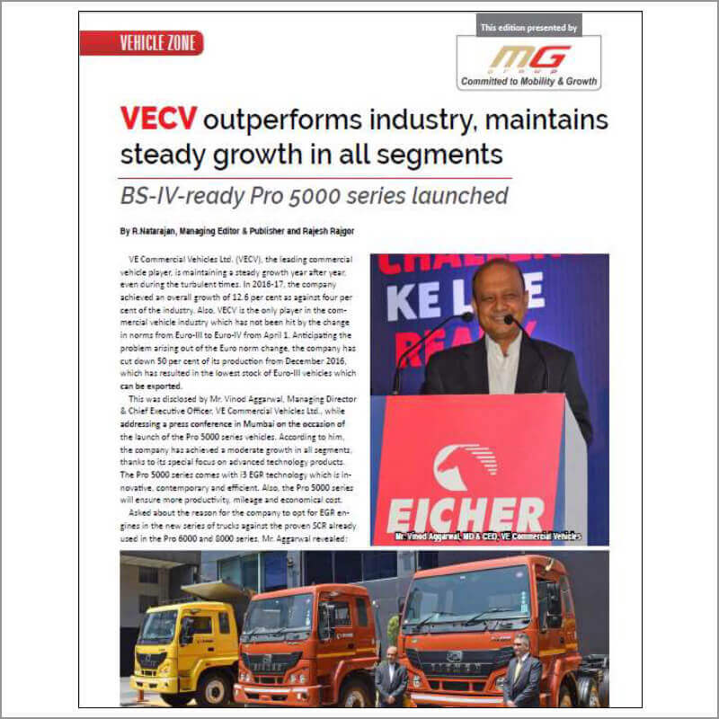 VECV outperforms industry, maintains steady growth in all segments