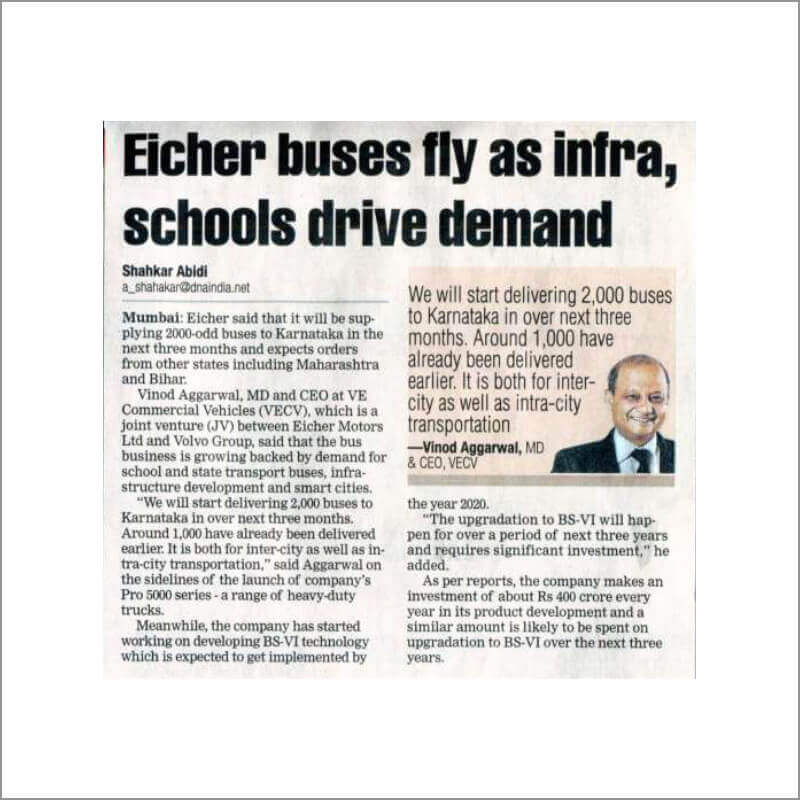 Eicher buses fly as infra, schools drive demand