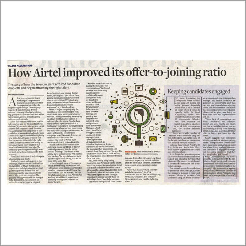 How Airtel improvised its offer-to-joining ratio