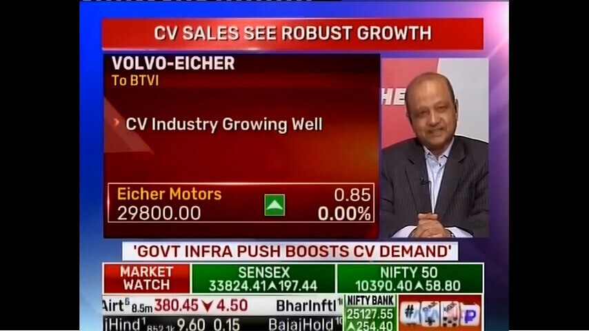 Vinod Aggarwal, MD & CEO, VECV speaks to BTVI about Growth in CV Sales