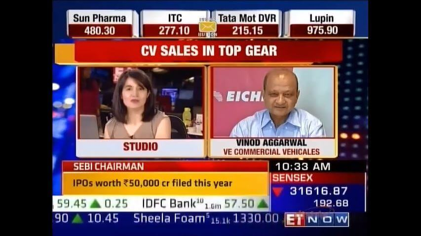 Vinod Aggarwal, MD & CEO, VECV speaks to ET Now about CV industry & VECV\'s investment plans