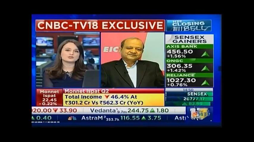 Mr. Vinod Aggarwal, CEO, VE Commercial Vehicles on CNBCTV18