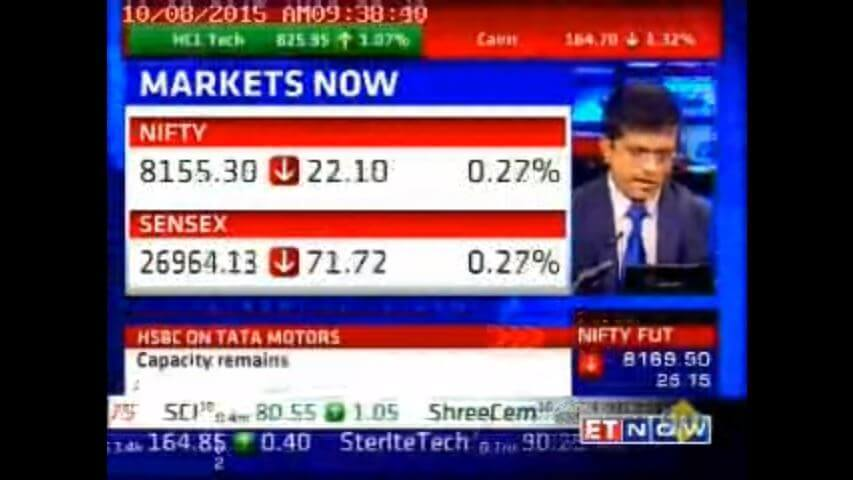 Mr. Vinod Aggarwal, CEO, VE Commercial Vehicles on ET NOW - Oct - 15
