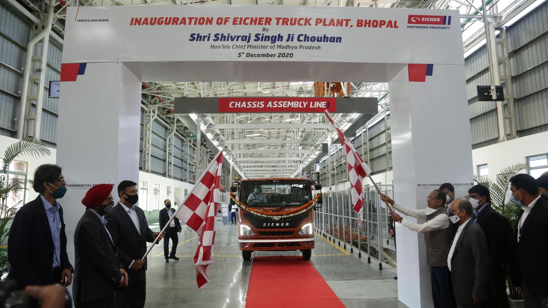 VE Commercial Vehicles (VECV) commences production at its new Truck Plant at Bhopal
