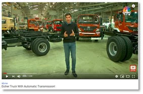 NO MORE CHANGING GEARS! HERE\'S INDIA\'S FIRST TRUCK WITH AN AUTOMATIC TRANSMISSION. AREEB SHERWANI DRIVES THE #EICHER PRO 3016 AMT
