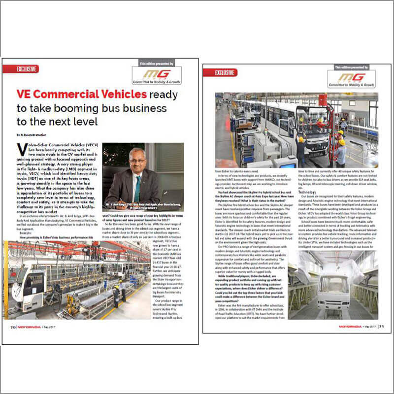VE-Commercial Vehicles ready to take booming bus business to the next level
