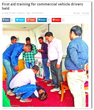 FIRST AID TRAINING FOR COMMERCIAL VEHICLE DRIVERS HELD
