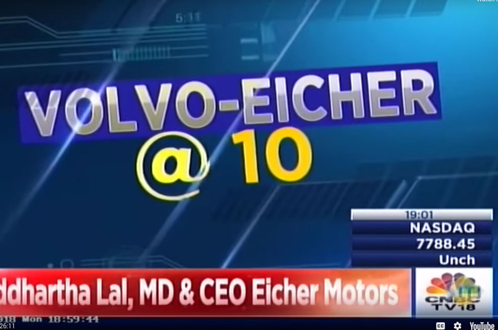 VECV celebrates 10 years of Joint Venture, Interview with CNBC TV18
