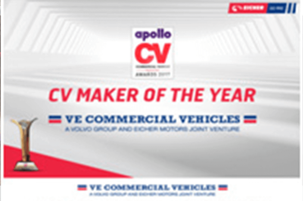 VECV awarded as the CV Maker of the Year 2017