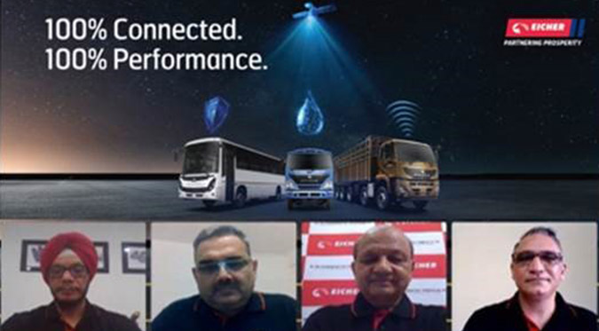 Eicher becomes the first company to offer 100% Connected Vehicles in the Commercial Vehicle industry...