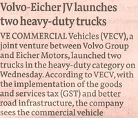 Volvo-Eicher seeks nod for a new plant