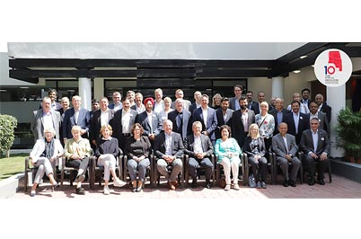 The Eicher Team comes together with the Volvo Board members to celebrate 10 Years of Successful VECV...