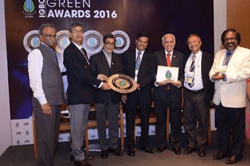 Bus plant awarded Platinum rated Green factory building certification by IGBC, 1st Bus Plant in Asia, 1st in M.P. and 21st in India