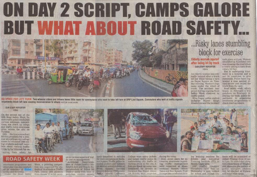 ON DAY 2 SCRIPT, CAMPS GALORE BUT WHAT ABOUT ROAD SAFETY