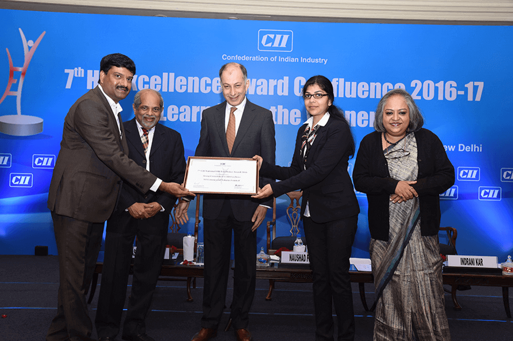VECV commended as an organization with Strong commitment to HR Excellence at 7th CII National HR Excellence award 2016.