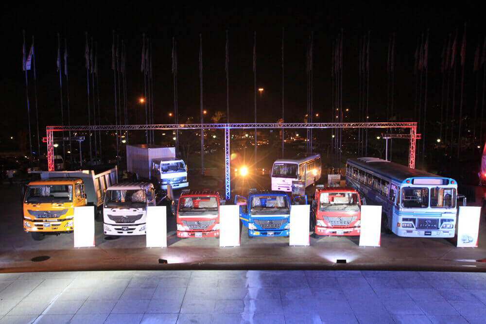 Product Display of Eicher Pro Series launch in Colombo, Sri Lanka