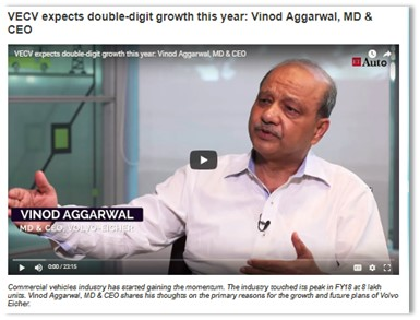 VECV EXPECTS DOUBLE-DIGIT GROWTH THIS YEAR: VINOD AGGARWAL, MD&CEO